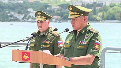 Russia: Shoigu awards missile cruiser Order of Nakhimov