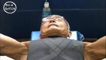 74 годишен Японец,фитнес маняк