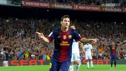 • Lionel Messi - Top 10 Goals in 2012 - 2013 •