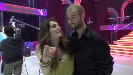 Dancing Stars - Сани и Симеон след отпадането им (24.04.2014г.)
