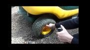 Как се помпа гума за секунди