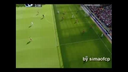 Ливерпул 0 - 1 Ман.ю.(гол на Тевез +първата асистенция на Д.Бербатов)2:28мин.