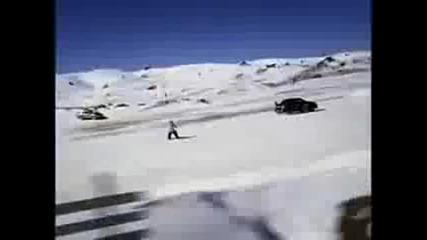 Най - ненормалния Шофьор на света Скоци и дрифтове на сняг ken block