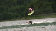 Емоцията от карането на wakeboard !