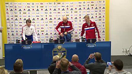 Sweden: Russian team train ahead of UEFA Sweden clash