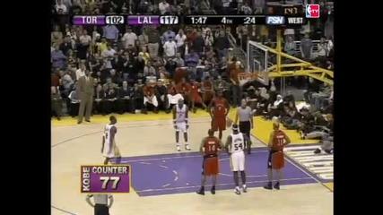 Феноменалните 81 точки на Kobe Bryant