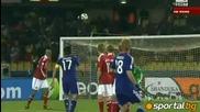 Феноменален гол на Кейсуке Хонда срещу Дания! Дания - Япония 0:1