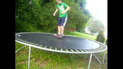 Как се скача на батут...