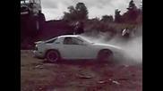 Разкатаване на гуми от burnout на прекъсвач