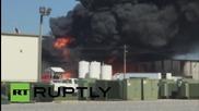 USA: Santie Oil building burns as huge flames light up Sikeston, Missouri