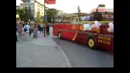 12 А клас от Пмг Хр.смирненски пристигат с нетрадиционен транспорт