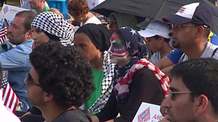 USA: Hundreds American Muslims rally against IS and Islamophobia