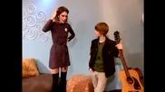 Justin bieber flirting with alexa chung (гледай!!!!!) :d