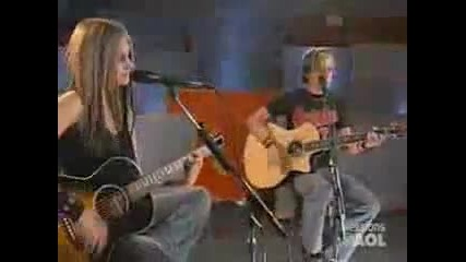 Avril Lavigne - Take me away (aol sessions)(превод & текст)