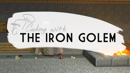 Minecraft-cooking with the Iron Golem- Pig