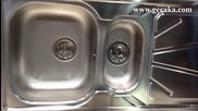 Eurolux Prime Inox 100x двукоритна мивка