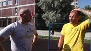 Кръгова тренировка навън. С Андрей Басинин.