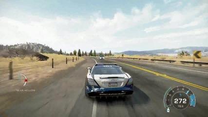Need For Speed малък gameplay с Slr Mclaren 722 Police edition
