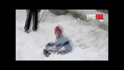 Как не трябва да се чисти сняг - Смях
