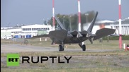 Poland: US F-22 fighter jets arrive in Europe for first time