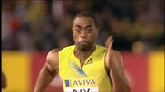 Tyson Gay wins 100m in London 9:87 [crystal Palace]