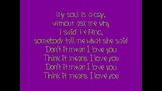 Rihanna - Te Amo [ Lyrics]
