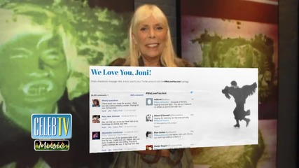 Joni Mitchell is NOT in a Coma