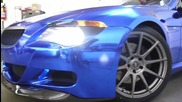 Цялостно облепяне на Bmw 6 със синьо хром фолио