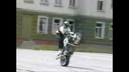 Slow wheelie practice