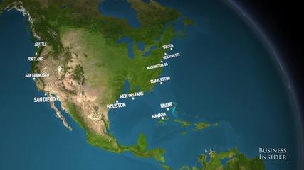 Как ще изглежда Земята, ако се разтопят ледовете