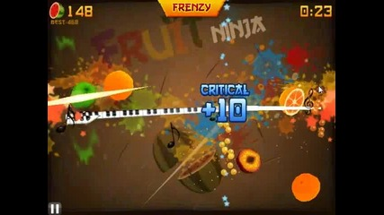Fruit Ninja: Arcade Mode x3 My gameplay