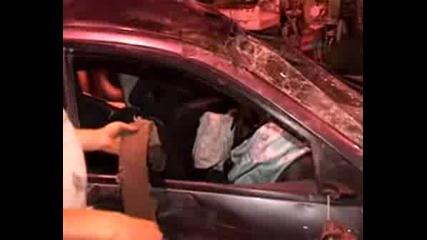 Barisin kaza yaptigi arabasi ve kaza yaptigi yer