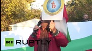 Bulgaria: Anti-NATO protesters rally outside US Embassy in Sofia