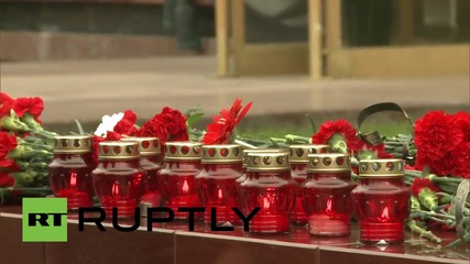 Russia: Mourners gather in Moscow to pay respects to flight 7K9268 victims