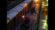 3000 волта и е като ден - Повреден влак в Русия