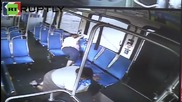 Philly Bus Passengers Bounce Around as Driver Rides onto Train Tracks