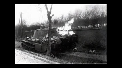 Destroyed tanks of ww2