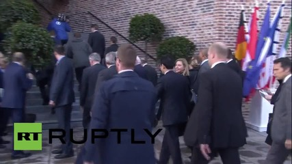 Germany: See G7 foreign ministers arrive by boatx