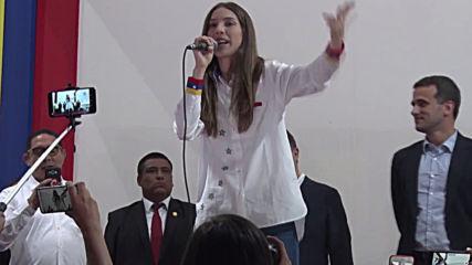 Peru: Guaido's wife rallies Venezuelan exile community