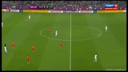 Евро 2012 : Русия 4 : 1 Чехия (всички Голове) 08.06.2012