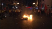 Ecuador: Opposition protesters scuffle with police in demo against constitutional reforms