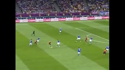 Испания - Италия 4-0 всички голове!! 01.07.2012
