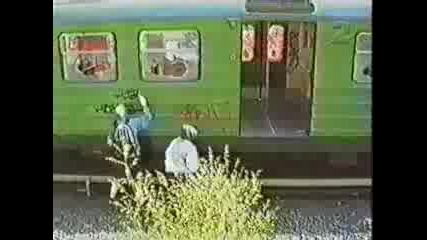 Graffiti Action Train Vandalism