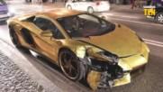 Видео урок: Как да счупиш страхотно златно Lamborghini за 10 секунди?