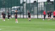 Националите тренират преди мача с Република Ирландия