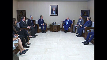 Syrian: UN's Syria envoy meets FM Muallem to discuss constitutional committee