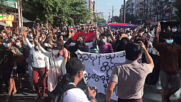 Myanmar: Flash protests hit Yangon as military coup enters fourth month
