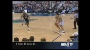 Bruce Bowen kicks Wally Szcerbiak