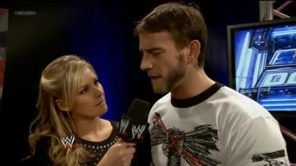Даниел Брайън и Си Ем Пънк говорят за мача си срещу Райбак и Къртис Аксел / Разбиване 15.11.2013г.