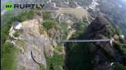 Най-дългият стъклен висящ мост в света